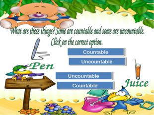 Try Again Great Job! Uncountable Countable Try Again Great Job! Countable Unc