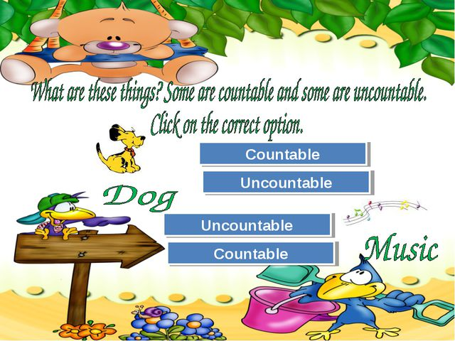 Try Again Great Job! Uncountable Countable Try Again Great Job! Countable Unc...