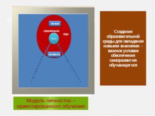 Создание образовательной среды для овладения новыми знаниями - важное условие