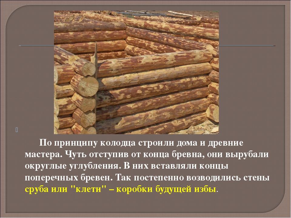 По принципу колодца строили дома и древние мастера. Чуть отступив от к...