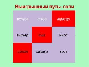 H2SeO4  Cr2O3 Al(NO3)3 Ba(OH)2  CaI2 HNO2 Li2SO4  Ca(OH)2 SeO3