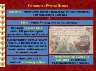 Государство Русь на Днепре 838-39 г. – посольство росов в Царьград (Константи