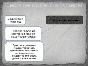 Юридические гарантии и система защиты прав Юридические гарантии Защита прав ч
