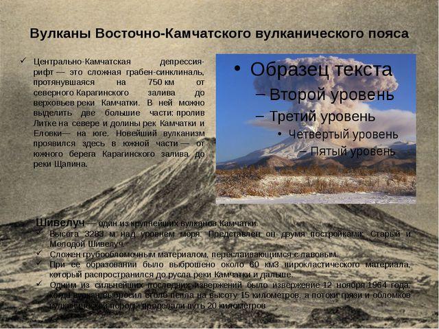 Вулканы Восточно-Камчатского вулканического пояса Шивелуч — один из крупнейши...