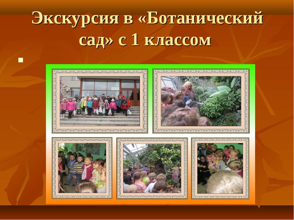 Экскурсия в «Ботанический сад» с 1 классом