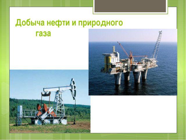 Добыча нефти и природного газа