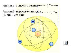 Атомның планетарлық моделі Электрондар е Протондар р Нейтрондар n Ядро +