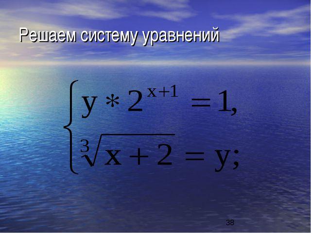 Решаем систему уравнений