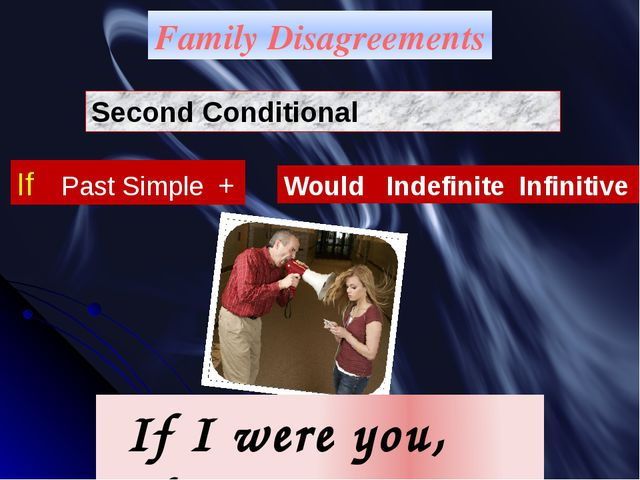 Family Disagreements Second Conditional If Past Simple + Would Indefinite Inf...