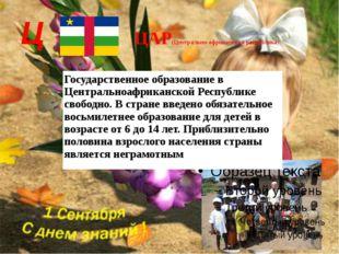 Ц ЦАР(Центрально-африканская республика) Государственное образование в Центра