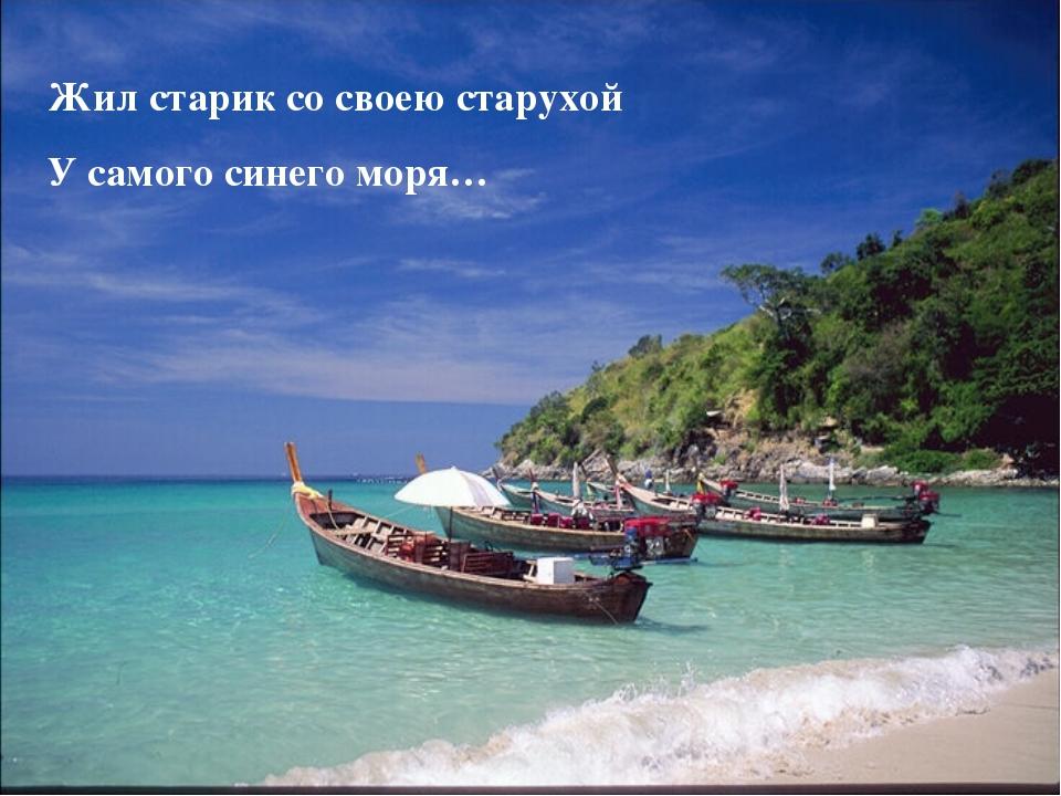 Жил старик со своею старухой У самого синего моря…