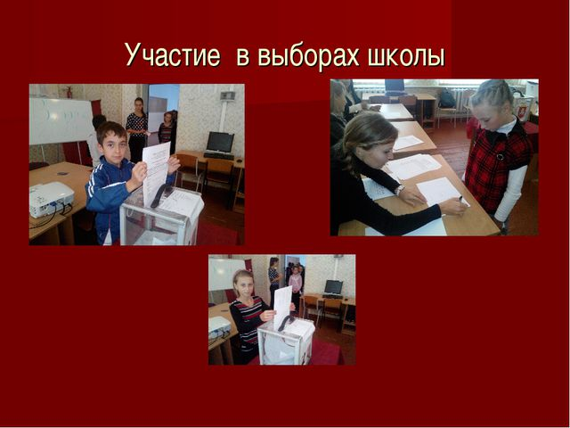 Участие в выборах школы