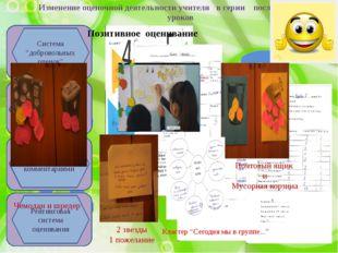 Изменение оценочной деятельности учителя в серии последовательных уроков Урок