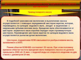 Дополнительная трансмиссия спец. агрегатов пожарного автомобиля Привод пожар