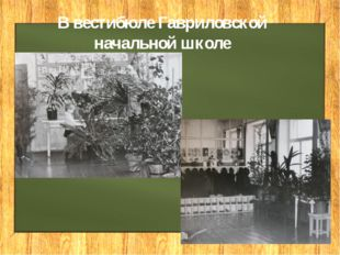 В вестибюле Гавриловской начальной школе