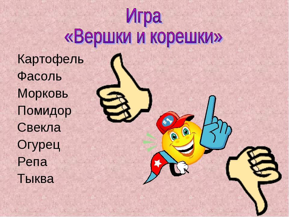 Картофель Фасоль Морковь Помидор Свекла Огурец Репа Тыква