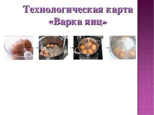 Технологическая карта «Варка яиц»