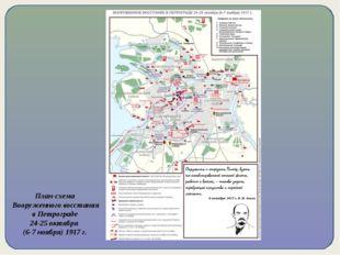 План-схема Вооруженного восстания в Петрограде 24-25 октября (6-7 ноября) 191
