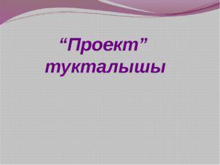 """""""Проект"""" тукталышы"""