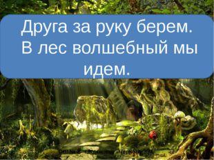 Друга за руку берем. В лес волшебный мы идем. ОШ № 2 г.Ждановка Чернова Э.М.