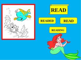 READED READ READING READ