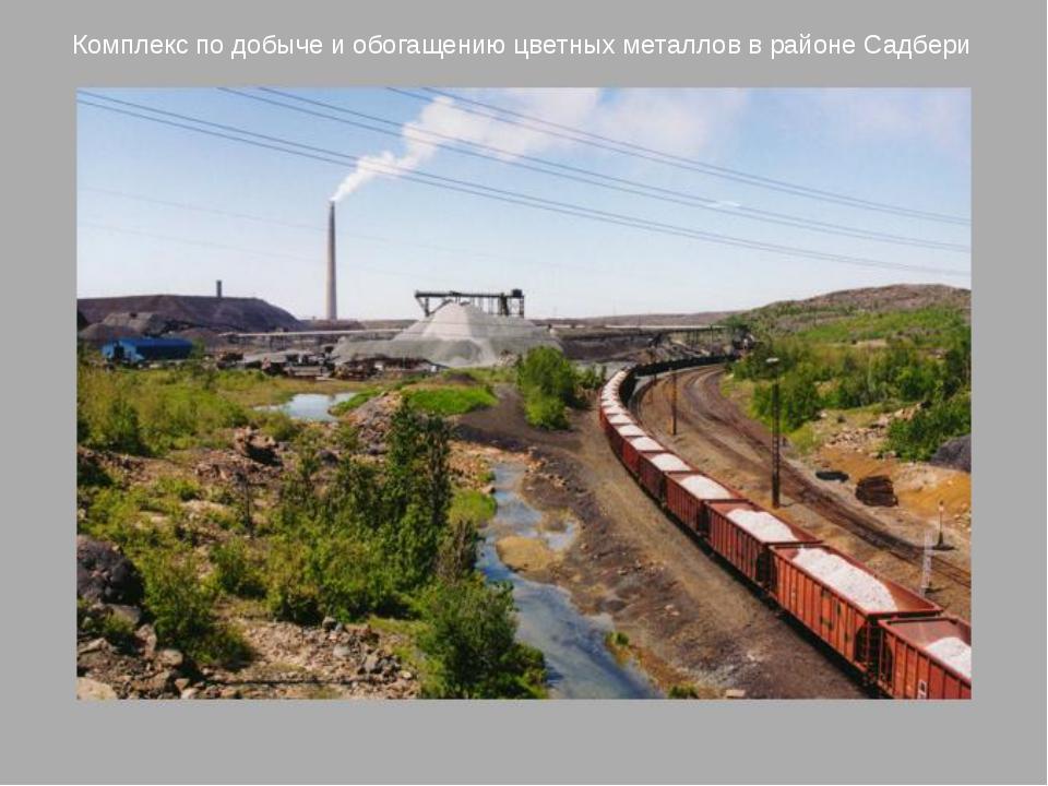 Комплекс по добыче и обогащению цветных металлов в районе Садбери