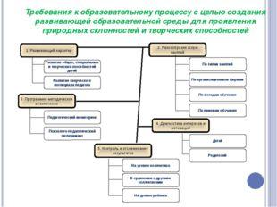 Требования к образовательному процессу с целью создания развивающей образоват