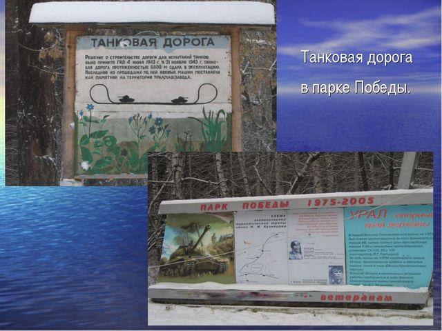 Танковая дорога в парке Победы.
