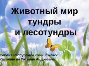 Животный мир тундры и лесотундры Экология Республики Коми, 6 класс Косолапова