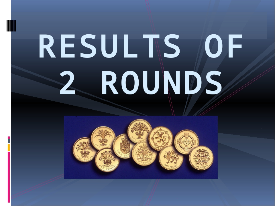 RESULTS OF 2 ROUNDS
