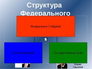 Структура Федерального Собрания Председатель палаты Борис Грызлов