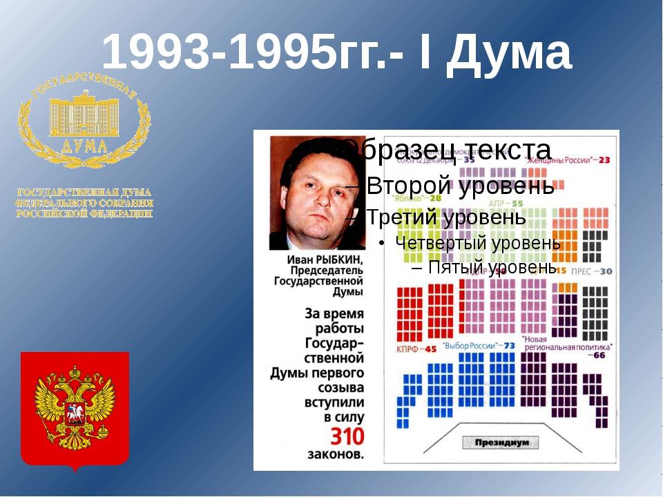 1993-1995гг.- I Дума