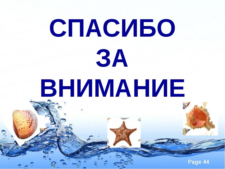 СПАСИБО ЗА ВНИМАНИЕ Page