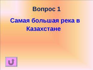 Вопрос 1 Самая большая река в Казахстане