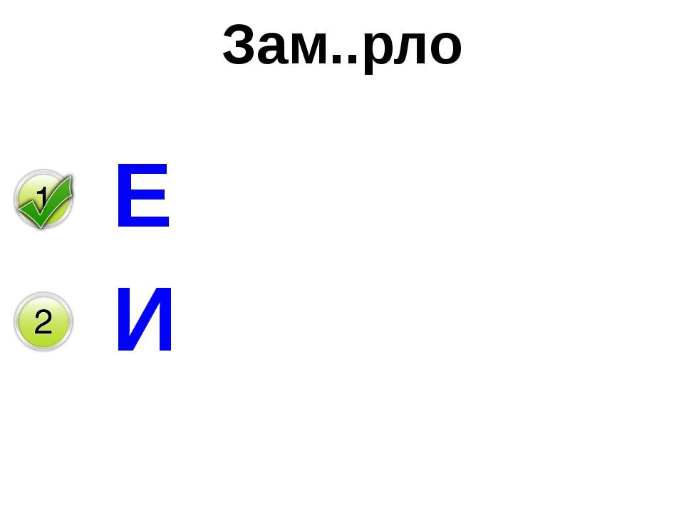 Зам..рло Е И