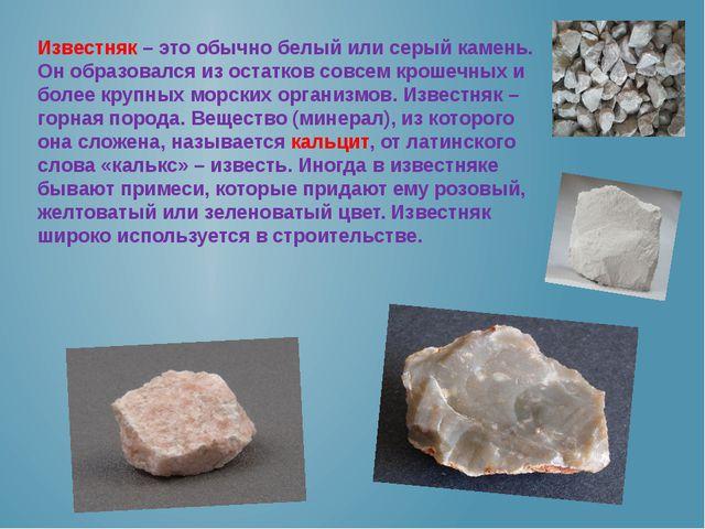 Известняк – это обычно белый или серый камень. Он образовался из остатков сов...