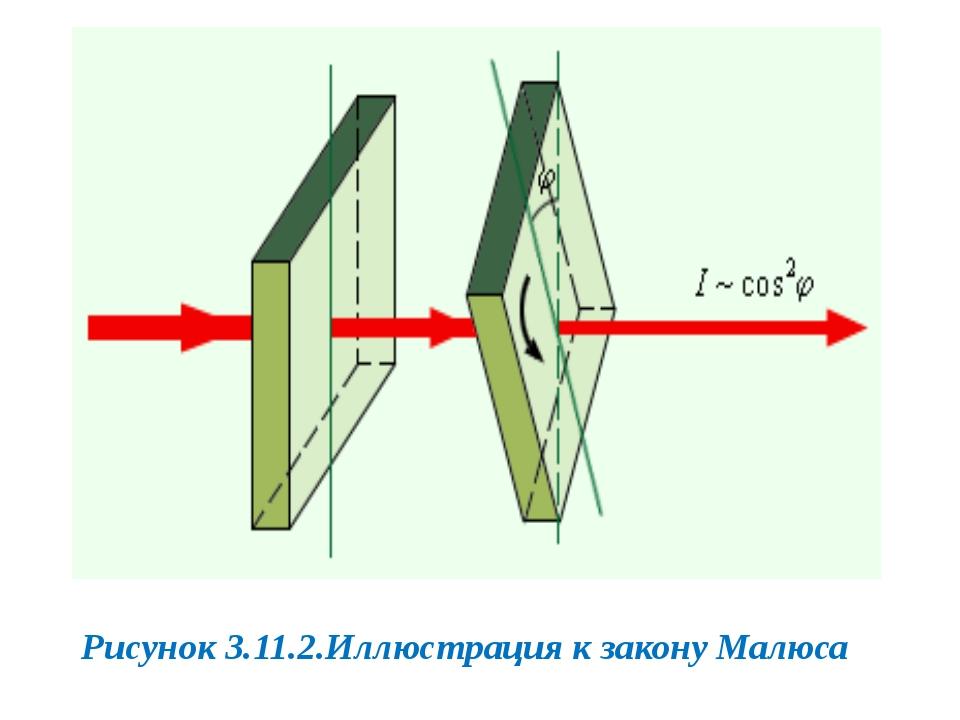 Рисунок 3.11.2.Иллюстрация к закону Малюса