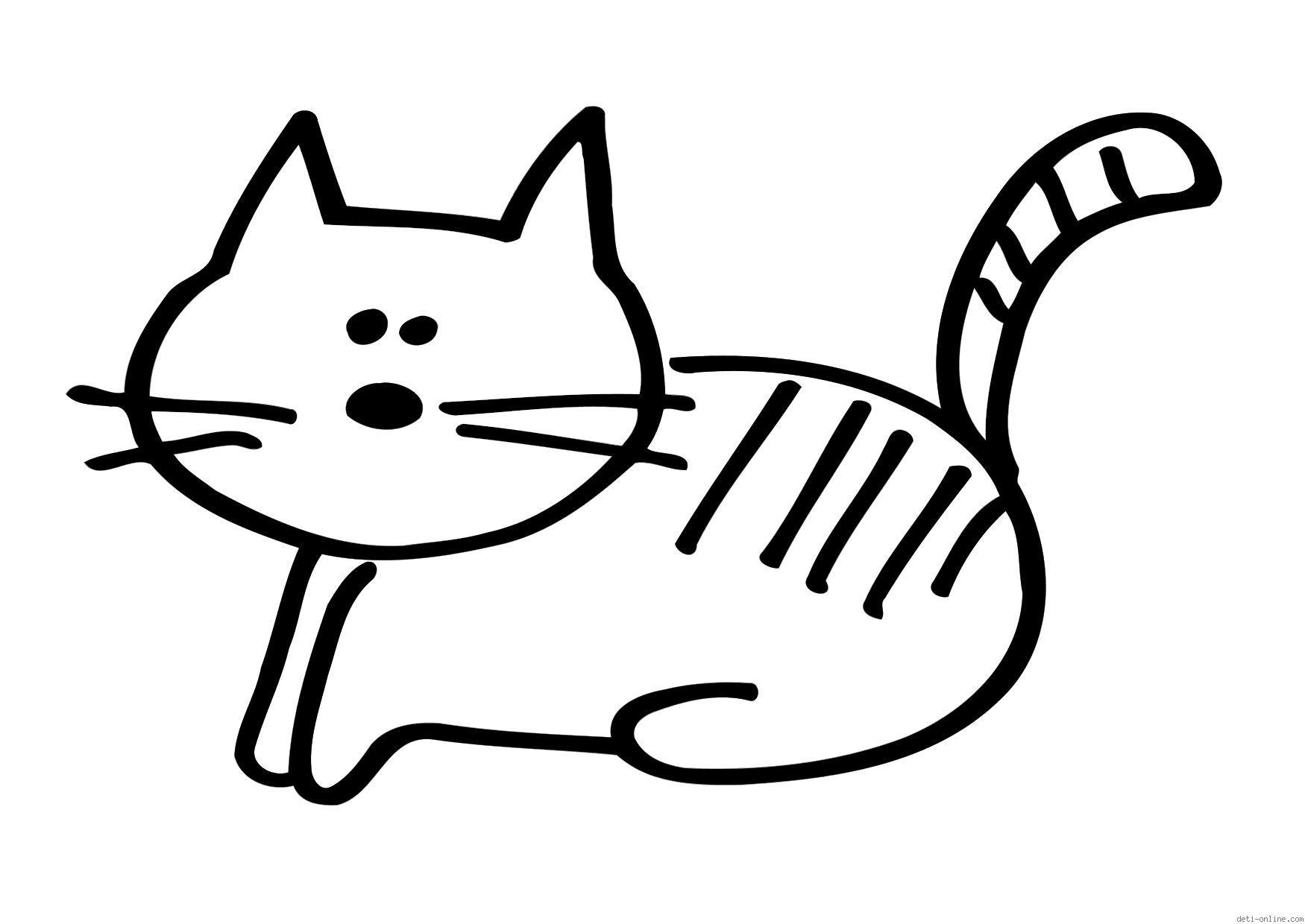 Рисунок простого кота