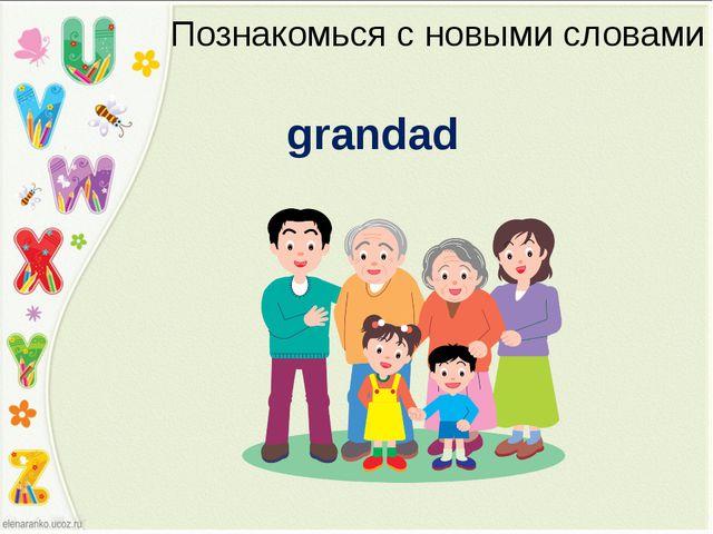 Познакомься с новыми словами grandad