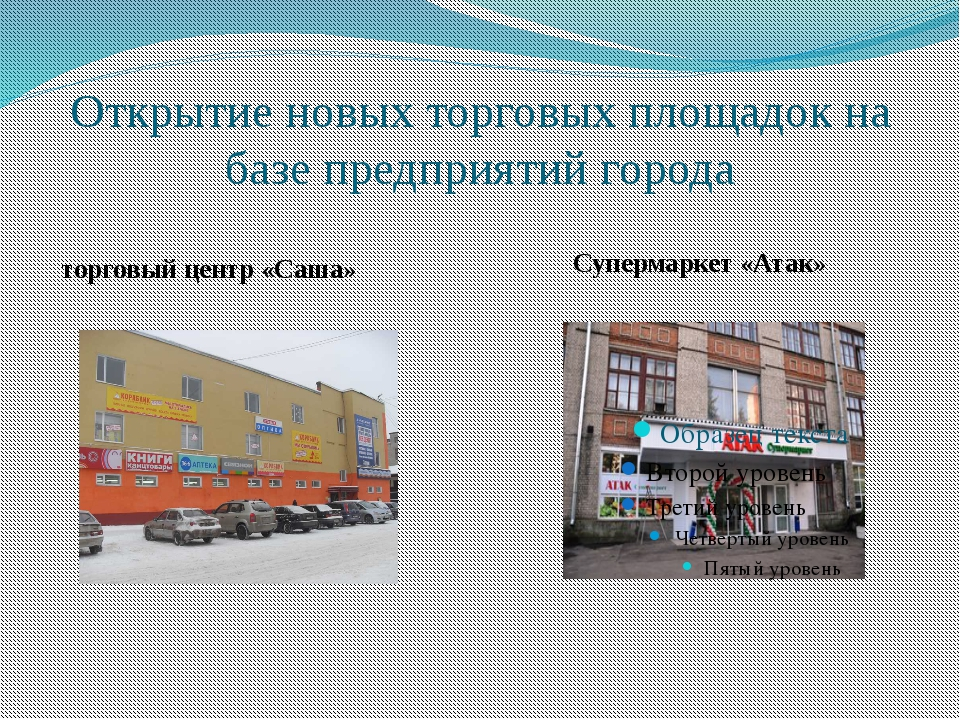 Открытие новых торговых площадок на базе предприятий города торговый центр «С...