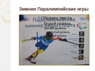 Зимние Паралимпийские игры