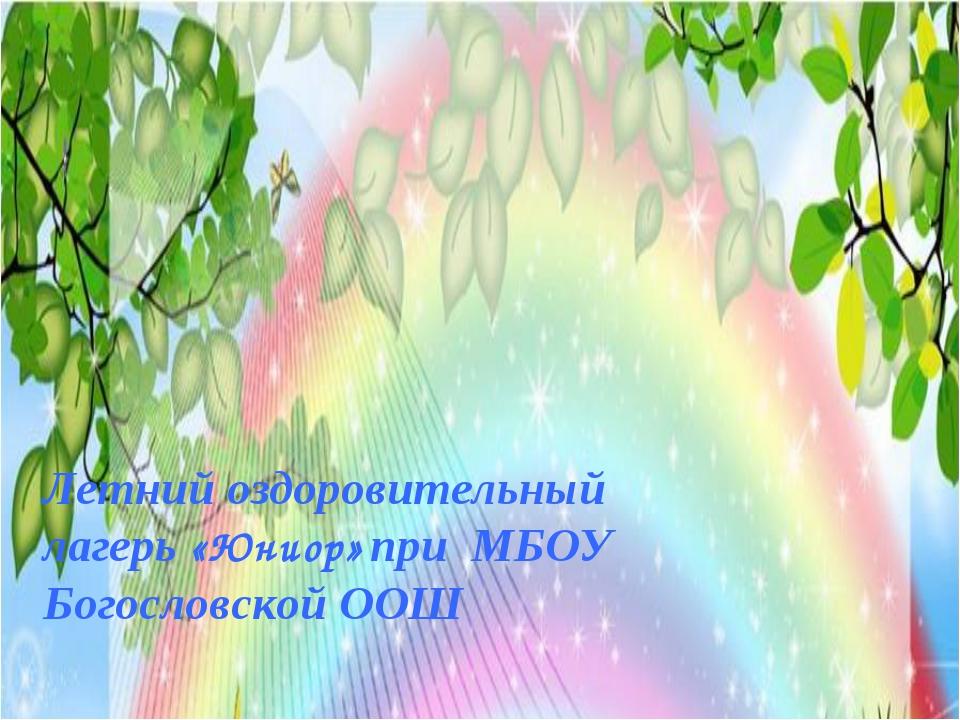 Летний оздоровительный лагерь «Юниор» при МБОУ Богословской ООШ