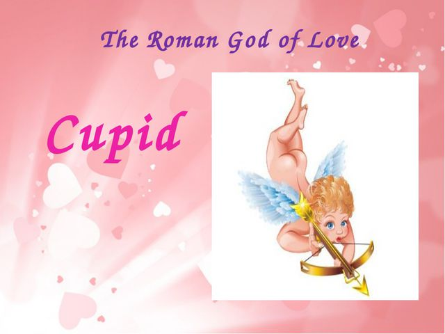 The Roman God of Love Cupid