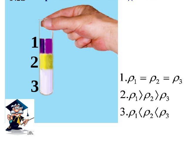 1 2 3 Сравните плотности жидкостей. №5