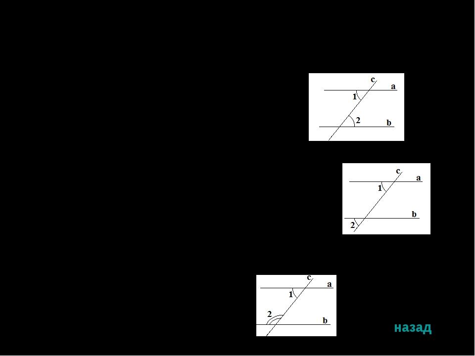 Признаки параллельных прямых Теорема 1. Если внутренние накрест лежащие углы...