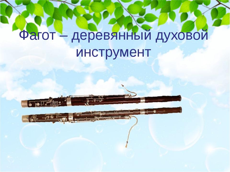 Фагот – деревянный духовой инструмент