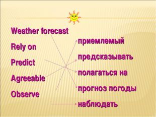 Weather forecast Rely on Predict Agreeable Observe приемлемый предсказывать п