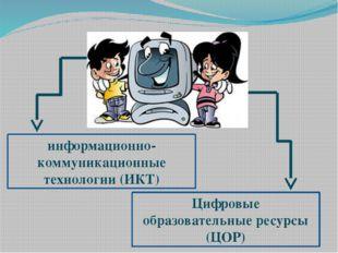 Цифровые образовательные ресурсы (ЦОР) информационно-коммуникационные техноло
