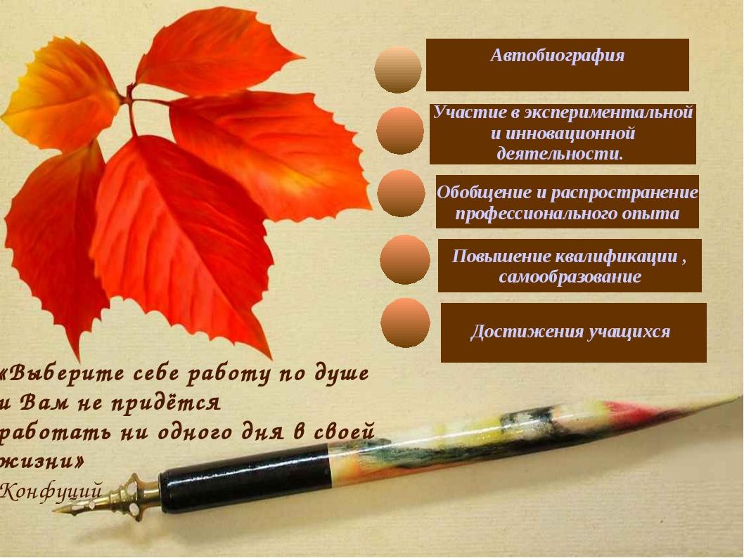Повышение квалификации , самообразование Обобщение и распространение професс...