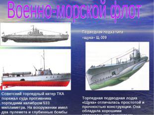 Советский торпедный катер ТКА поражал суда противника торпедами калибром 533